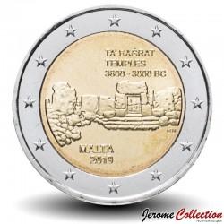 MALTE - PIECE de 2 Euro - Le temple mégalithique de Ta' Ħaġrat.s - 2019 Km#new
