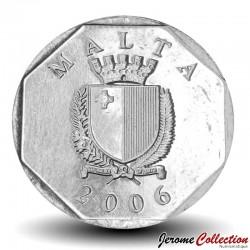 MALTE - PIECE de 5 Cents - Crabe Qabru - 2006