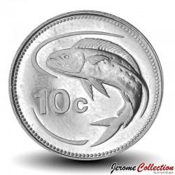 MALTE - PIECE de 10 Cents - Dorade coryphène - 2005 Km#96