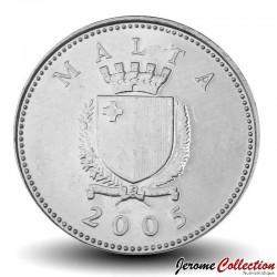MALTE - PIECE de 10 Cents - Dorade coryphène- 2005