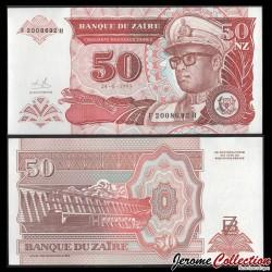ZAIRE - Billet de 50 Nouveaux Zaïres - 24.6.1993 P57a