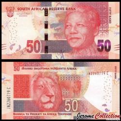 AFRIQUE DU SUD - Billet de 50 Rand - Lion - 2016 P140b