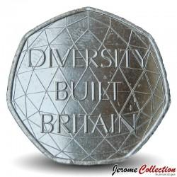 ROYAUME UNI - PIECE de 50 Pence - Diversity Built Britain - 2020 Km#New