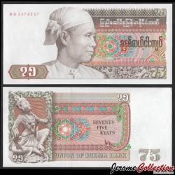 MYANMAR (ex-Birmanie) - Billet de 75 Kyats - Général Aung San - 1985 P65a