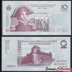 HAITI - Billet de 10 Gourdes - Sanité Belair - 2012 P272e