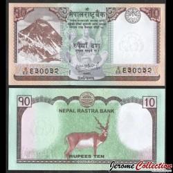NEPAL - Billet de 10 Roupies - Antilope - 2020 P77b