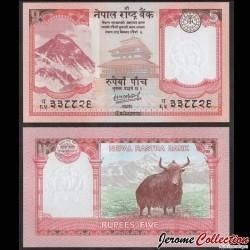 NEPAL - Billet de 5 Roupies - Yak - 2020 P76b