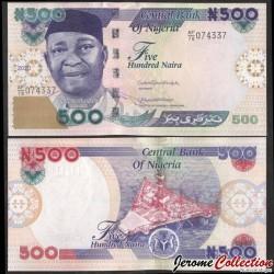 NIGERIA - Billet de 500 Naira - Dr. Nnamdi Azikiwe - 2020 P30s