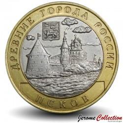 RUSSIE - PIECE de 10 Roubles - Villes historiques de Russie: Pskov - 2003 Y#800