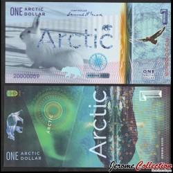 ARCTIC - Billet de 1 ARCTIC DOLLAR - Lapin des neiges - 2020 0001