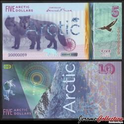 ARCTIC - Billet de 5 ARCTIC DOLLARS - Loups - 2020 0005
