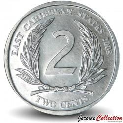 CARAIBE ORIENTALE - PIECE de 2 Cents - 2008 Km#35