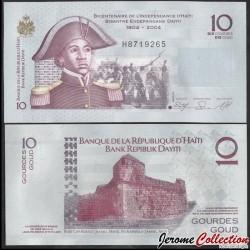 HAITI - Billet de 10 Gourdes - Sanité Belair - 2010 P272d