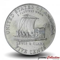 ETATS UNIS / USA - PIECE de 5 Cents - Expédition Lewis & Clark - Jefferson - P - 2004 Km#361