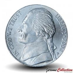 ETATS UNIS / USA - PIECE de 5 Cents - Expédition Lewis & Clark - Jefferson - P - 2004