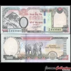 NEPAL - Billet de 1000 Roupies - Couple d'éléphants - 2019 P82a