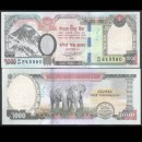 NEPAL - Billet de 1000 Roupies - Couple d'éléphants - 2019