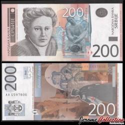 SERBIE - Billet de 200 Dinara - Nadežda Petrović - 2005 P42a