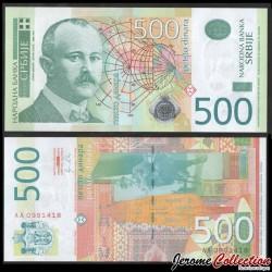 SERBIE - Billet de 500 Dinara - Jovan Cvijić - 2011 P59a