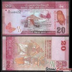 SRI LANKA - Billet de 20 Roupies - Chouette - 2010 P123a