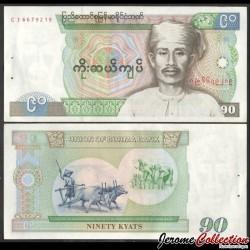 MYANMAR (ex-Birmanie) - Billet de 90 Kyats - Saya San - 1987 P66a