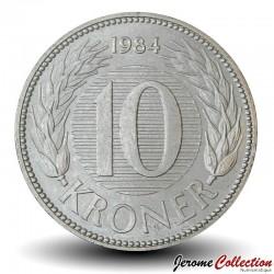 DANEMARK - PIECE de 10 Kroner - Marguerite II - 1984 Km#864