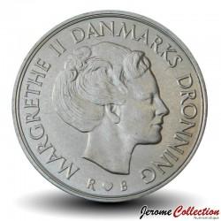 DANEMARK - PIECE de 10 Kroner - Marguerite II - 1984