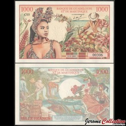 BANQUE DE LA GUADELOUPE ET DE MARTINIQUE - Billet de 1000 Francs - 2021 01000