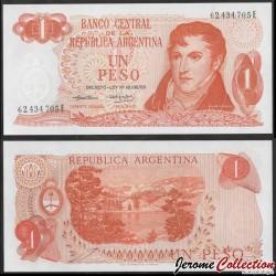 ARGENTINE - Billet de 1 Peso - Général Manuel Belgrano - 1974 P293a