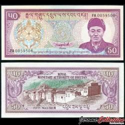 BHOUTAN - Billet de 50 Ngultrum - Dzong de Trongsa - 1992 P17b