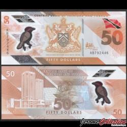 TRINITÉ-ET-TOBAGO - Billet de 50 DOLLARS - Oiseau Paroare rougecap - Polymer - 2020 P64a