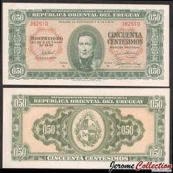 URUGUAY - Billet de 50 Centésimos - 02.01.1939 P34a