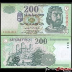 HONGRIE - Billet de 200 Forint - Charles Robert de Hongrie - 2006 P187f
