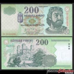 HONGRIE - Billet de 200 Forint - Charles Robert de Hongrie - 2007 P187g