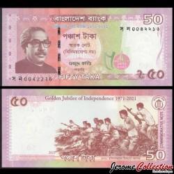 BANGLADESH - Billet de 50 Taka - Combattants de la liberté - 2021 P68a