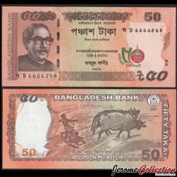 BANGLADESH - Billet de 50 Taka - Jubilé d'or de l'indépendance (1971-2021) - 2021 P69a