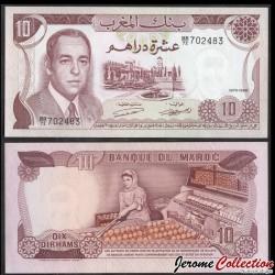 MAROC - Billet de 10 DIRHAMS - Roi Hassan II - 1970 P57a