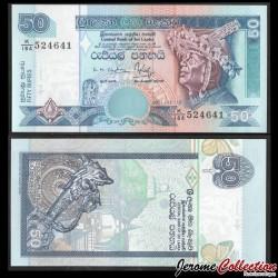SRI LANKA - Billet de 50 Roupies - Pierre de lune - 2001 P110b