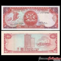 TRINITÉ-ET-TOBAGO - Billet de 1 DOLLAR - Oiseau Ibis rouge - 1985 P36b