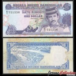 BRUNEI - Billet de 1 Ringgit / Dollar - Sultan Hassan al-Bolkiah I - 1989 P13a