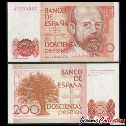 ESPAGNE - Billet de 200 Pesetas - Leopoldo García de Las Alas y Ureña - 1980 P156a2