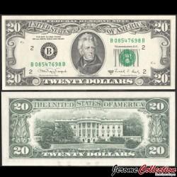 ETATS UNIS / USA - Billet de 20 DOLLARS - Andrew Jackson - B(2) New York - 1988A P483aB