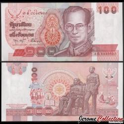 THAILANDE - Billet de 100 Baht - Roi Rama IX - 2003 P97a12