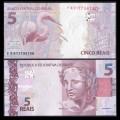 BRESIL - Billet de 5 Reais - Grande aigrette - 2018 / 2019 P253e