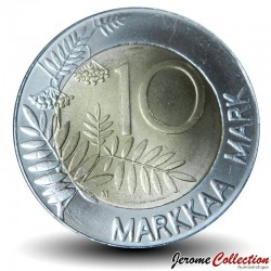FINLANDE - PIECE de 10 Markkaa - Grand coq de bruyère - 1998