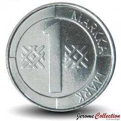FINLANDE - PIECE de 1 Markkaa - Armoirie de la Finlande - 1997
