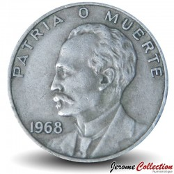 CUBA - PIECE de 20 Centavos - José Marti - 1962