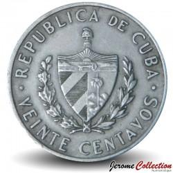 CUBA - PIECE de 20 Centavos - José Marti - 1968