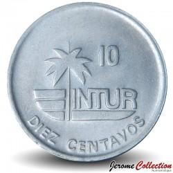 CUBA - PIECE de 10 CENTAVOS - Instituto Nacional de Turismo - Colibri - 1989