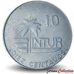 CUBA - PIECE de 10 CENTAVOS - Instituto Nacional de Turismo - Colibri - 1981
